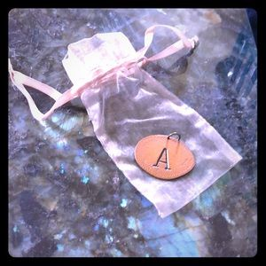 Handcrafted Copper Letter A Pendant